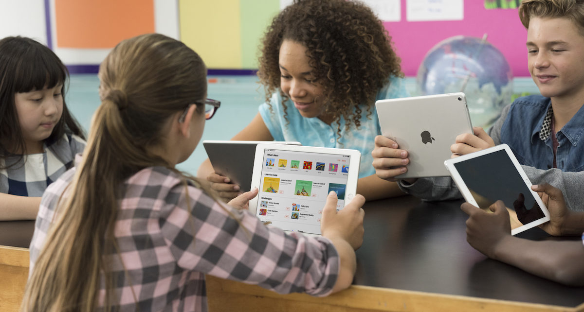 Apple products in use by students and teachers